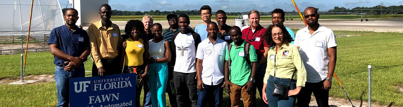 Haitian technicians tour FAWN weather station network in Citra, Florida