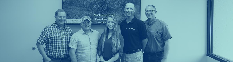 Mackenzie Bell and her graduate committee.