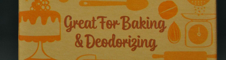 label on box of baking soda