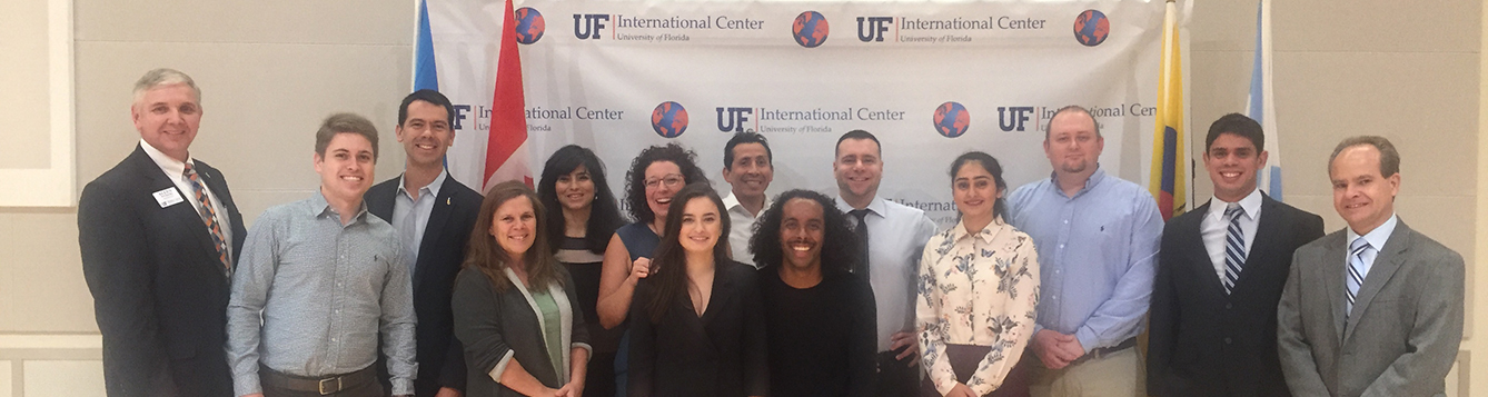 student and faculty recipients at international education awards ceremony