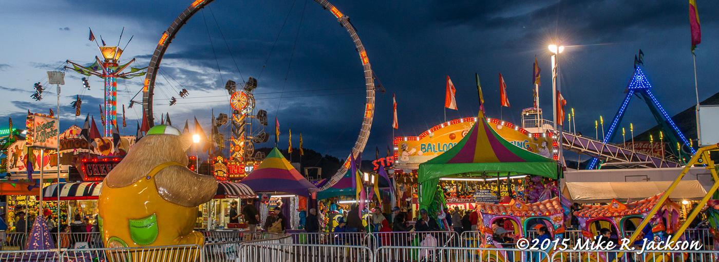 carnival rides at a fair