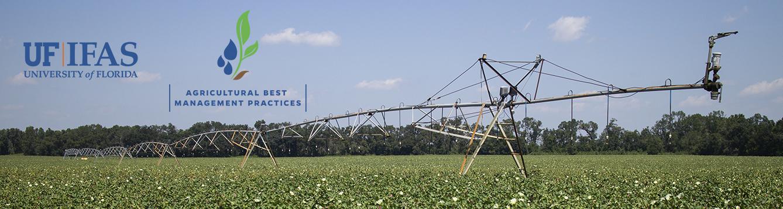 Overhead irrigation in a field