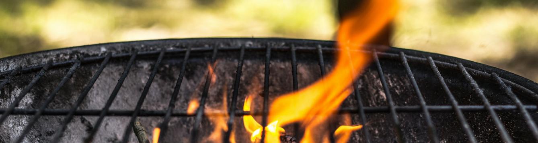 BBQ Grill Flames