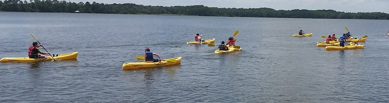 Camp cloverleaf kayaking