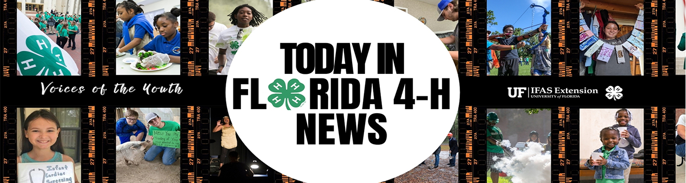 Florida 4-H News: Voices of the youth banner