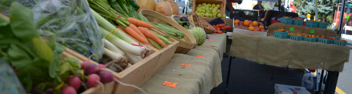 Farmers markets are a good way to shop local