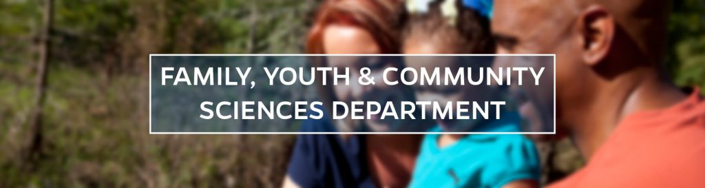 Family Youth and Community Sciences Department Header, family in nature setting