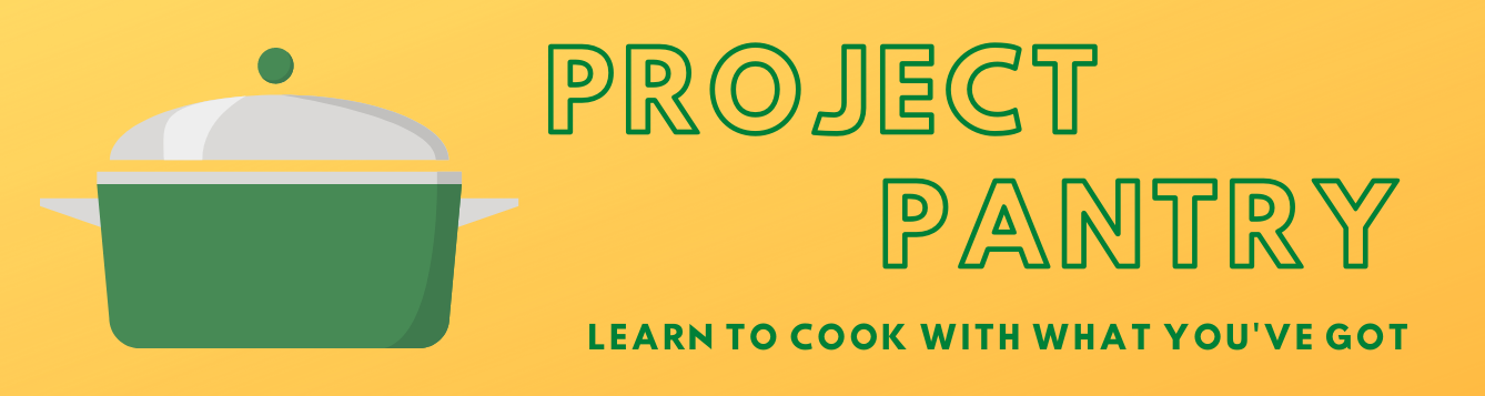 "page banner for a series of articles called ""Project Pantry"""