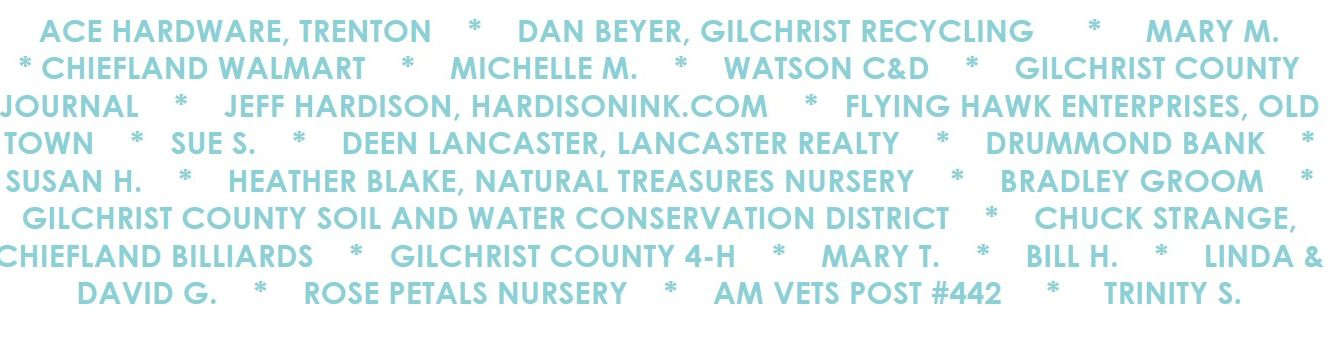 list of busineses and individuals who supported and funded the back the blue project
