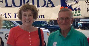 Ronnie J, Mrs. Bill B, Michael H and Martha H talk about plants