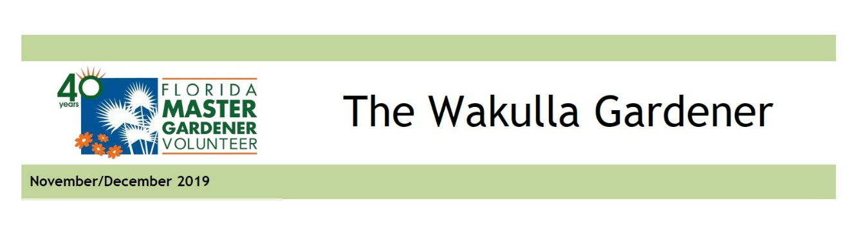 The Wakulla Gardener Nov_Dec 2019