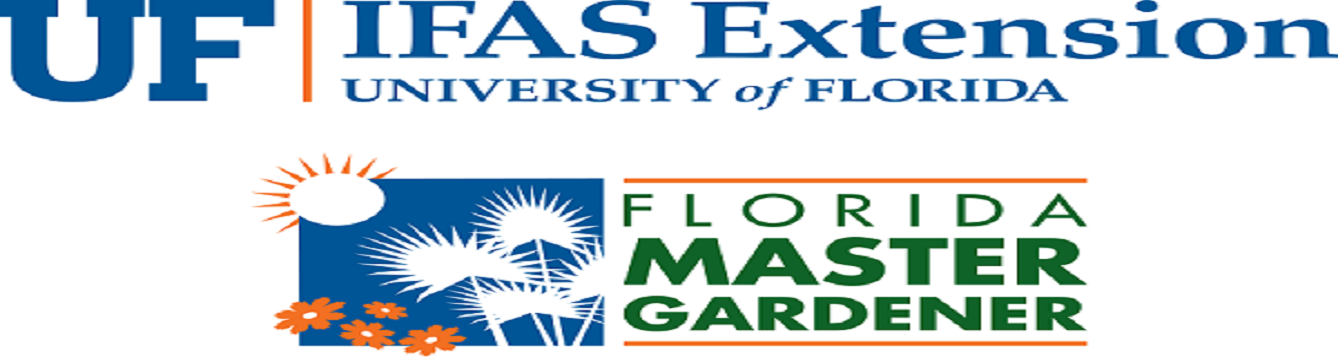 University of Florida's Institute of Food and Agricultural Science logo over the Florida Master Gardener Logo