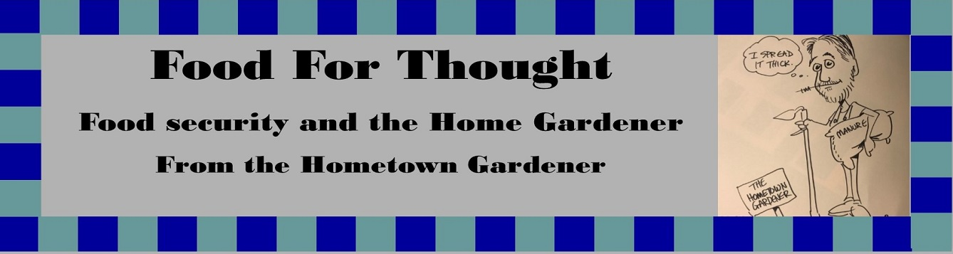 Title photo, Food for thought. Food security and the home gardener