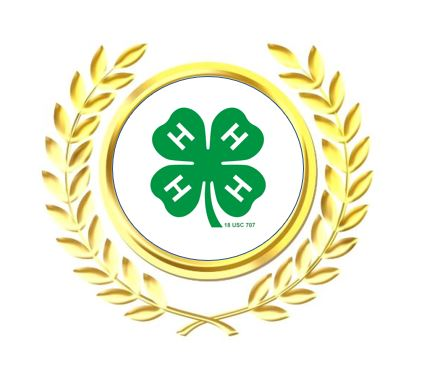 4-H clover in gold seal