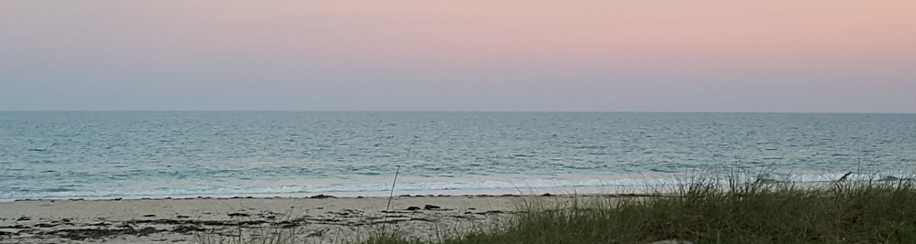 Beach at sunset in Indian River County
