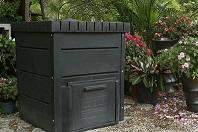 black plastic composter bin