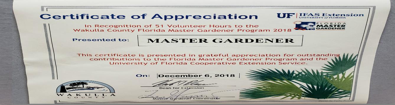 Master Gardener Certificate Feat