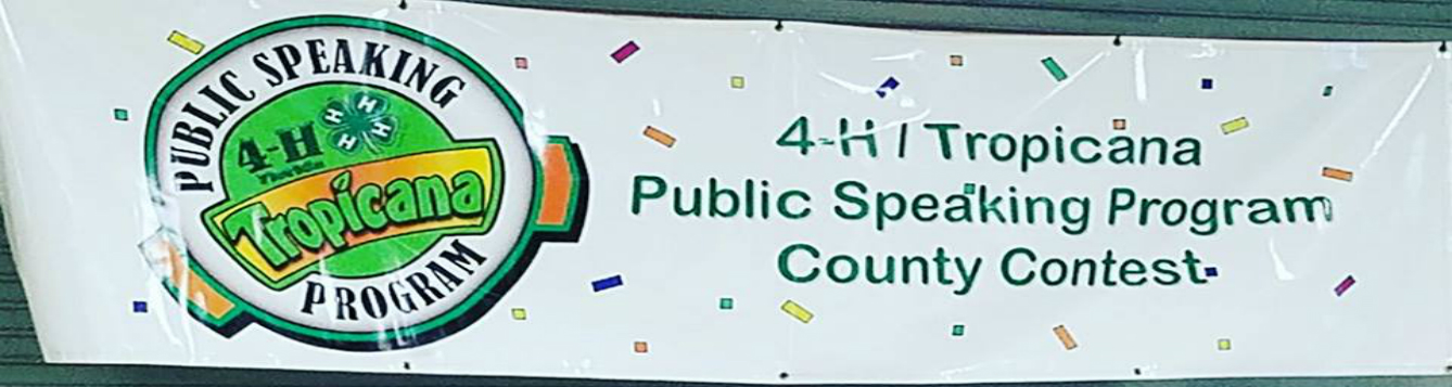 4-H Tropicanna Public Speaking feat