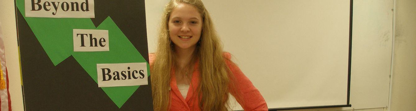 4-H youth gives demonstration speech