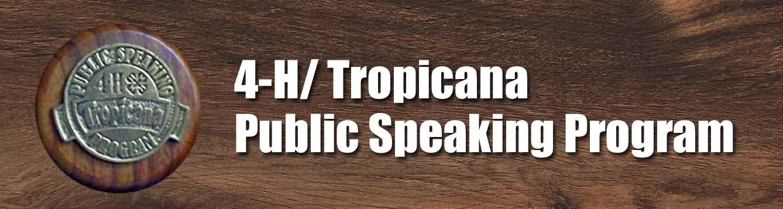 Levy County 4-H Tropicana Speaking Program