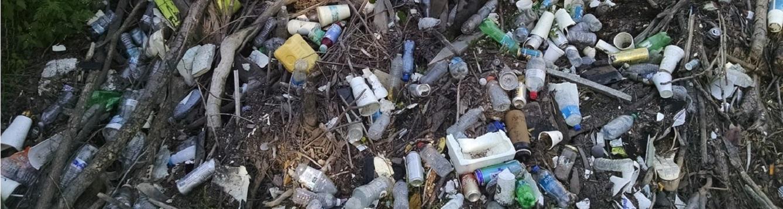 Plastic debris in the environment. Source: Zero Waste Gainesville