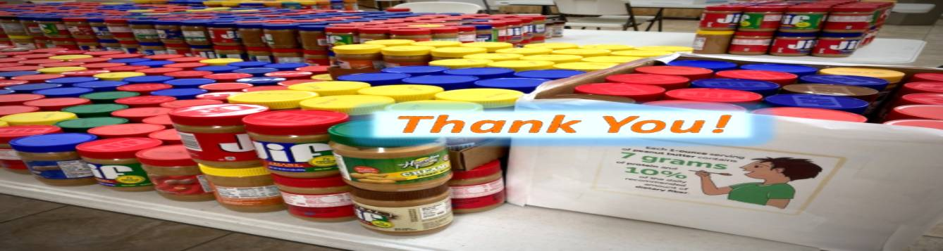thank you to Levy county residents who donated peanut butter.