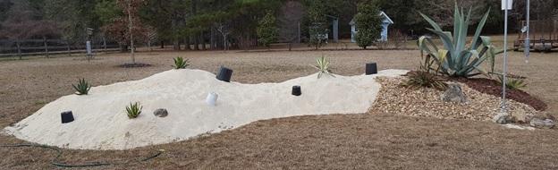 Top decorative gravel bed 5