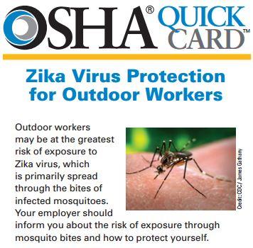 OSHA Zika protection outdoor workers