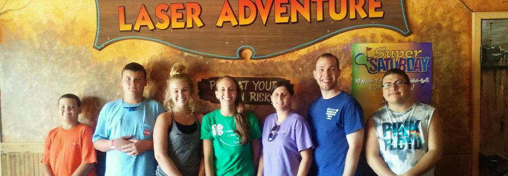 Youth at laser Adventure