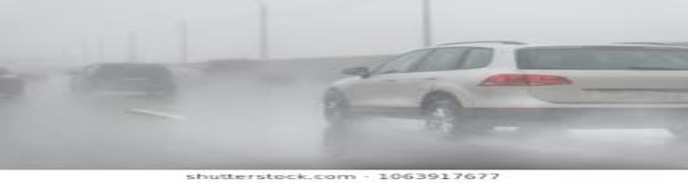 automobile is hydroplaning