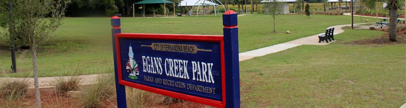 Egans Creek Park Sign