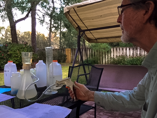 Dennis filtering water