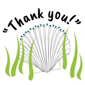 bay scallop saying thank you