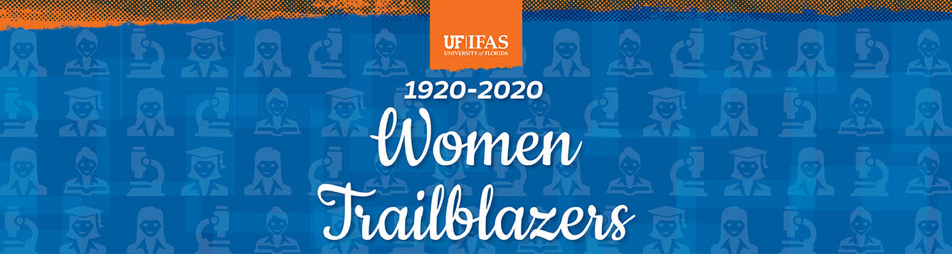 Graphic banner introducing Women Trailblazers