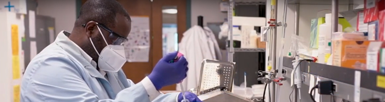 Joseph Larkin in the lab