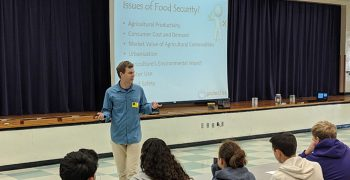 youth outreach_lecture_students_ag literacy and invasive species