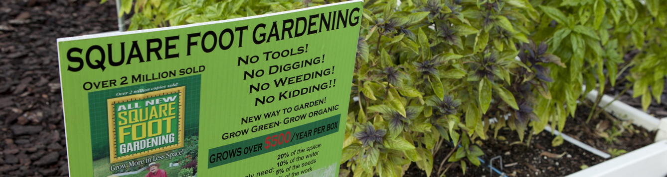 Square Foot Gardening sign
