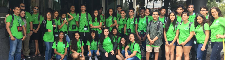juntos group shot w green shirts