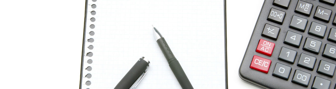 notepaper pen calculator