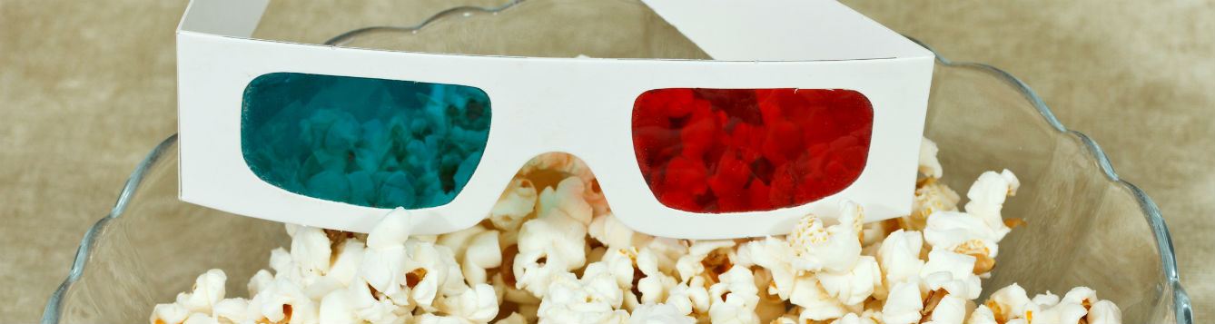 Popcorn and 3D glasses resize