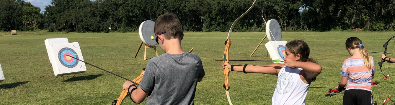 4H youth at archery practice