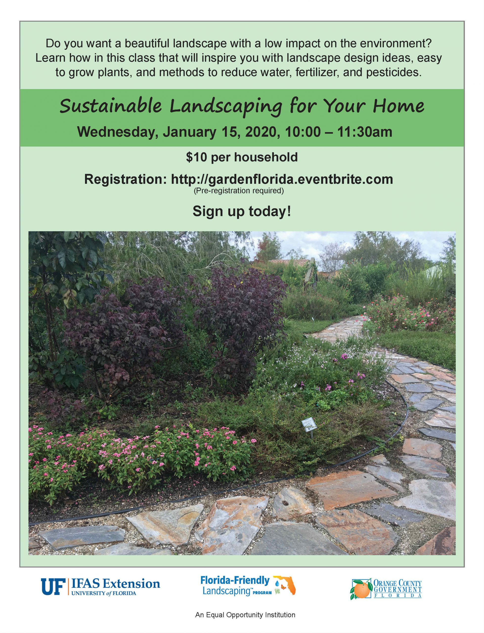 Sustainable Landscaping Class Uf Ifas Extension Orange County