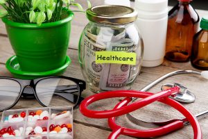 plant glasses money in saving jar stethoscope