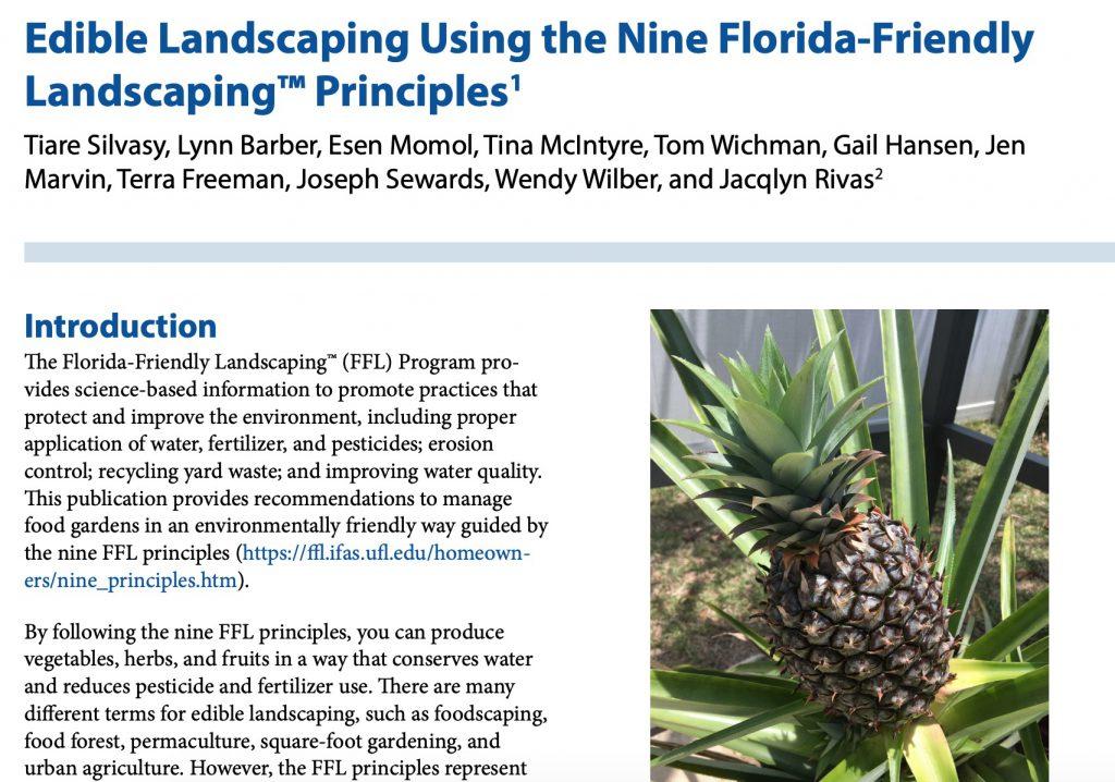 Edible Landscaping EDIS