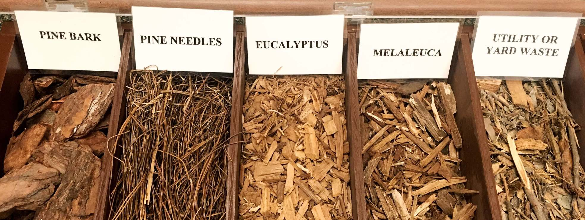 Box With Samples Of Various Types Mulch