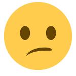 Huh? Confused emoji
