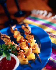 Shrimp and Pineapple Shish Kebabs