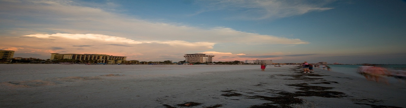 View of St. Pete beach during sunrise