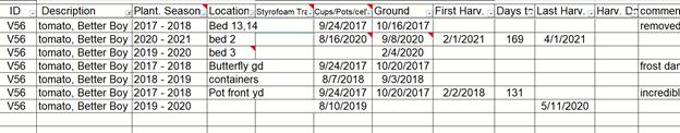 spreadsheet screen shot