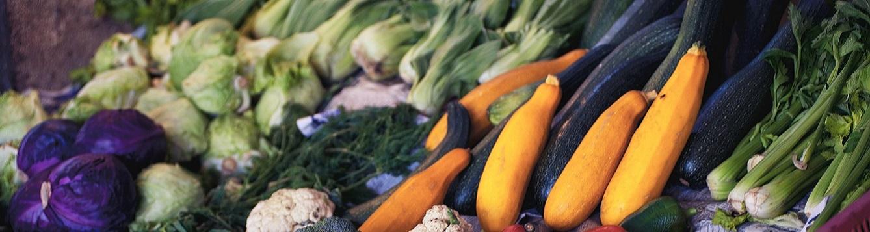 boy choy, summer squash, carrots
